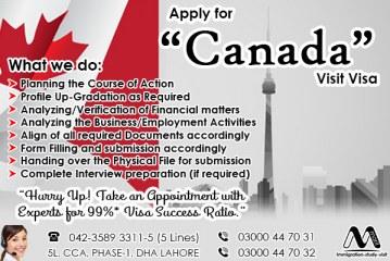 Apply Canada Visit Visa