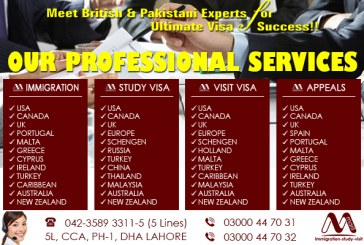 Our Top Class Visa Services From Lahore Pakistan.