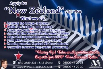 Apply New Zealand Visit Visa Through our Senior Experts…