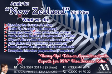 Apply New Zealand Visit Visa Through our Experts…