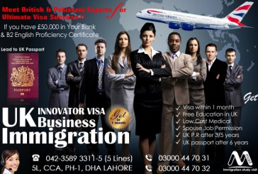 Top UK Innovator Immigration Consultant in Lahore Pakistan