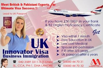 Apply UK Innovator Business Immigration Visa Through Our British & Pakistani Experts.