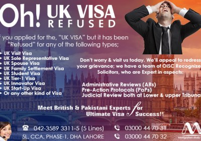 Apply UK Refusal Visa Through Our Experts