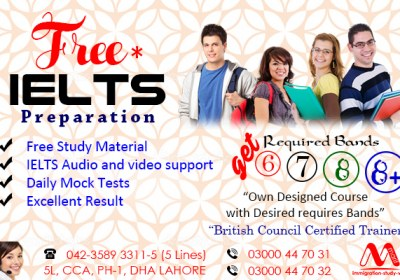 IELTS PREPARATION CENTRE IN PHASE 1 DHA LAHORE.