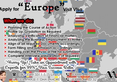 Apply EU Visit Visa Through Our Experts.