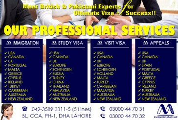 Worldwide Visa Services Provider In Lahore Pakistan, Meet British & Pakistani Experts..