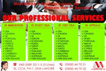 Our Professional Immigration Visa Services-Study Visa Services-Visit Visa Services & Refusal Visa Services