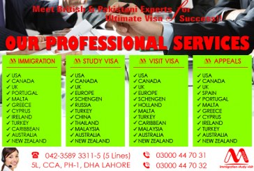 Our Professional Immigration Visa Services-Study Visa Services-Visit Visa Services & Refusal Visa Services