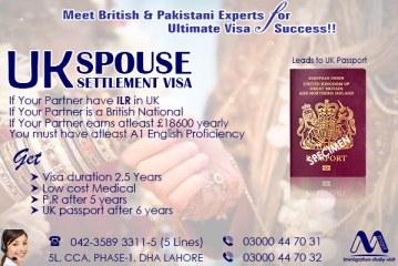 Apply UK Spouse Settlement Visa Through Our British & Pakistani Experts..