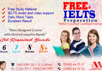 Get Top Class Free IELTS Preparation from Dha Lahore Pakistan