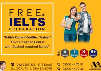 Get Free IELTS Preparation.