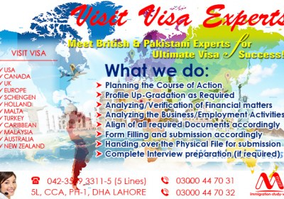 Top Class Worldwide Best Visit Visa Consultant From Lahore Pakistan