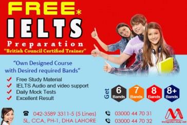 Free IELTS Preparation From Lahore Pakistan