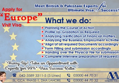 ‪Apply Europe Visit Visa From Lahore Pakistan