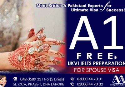 Get A1 Free IELTS For Spouse Visa