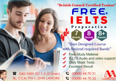Get Free Ielts Preparation Through our British Council Certified Trainer