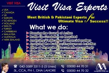 Meet British & Pakistani Experts Worldwide Visit Visa Consultants In Lahore Pakistan…