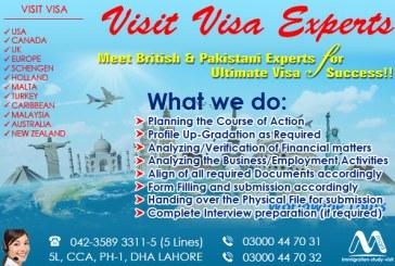 Best Worldwide Visit Visa Consultants, Meet British & Pakistani Experts..