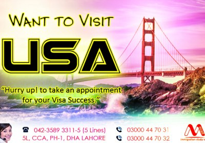 Apply USA Visit Visa From Lahore.
