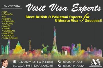 Best Worldwide Visit Visa Consultants in Dha Lahore.