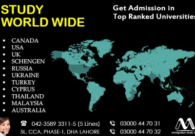Get Worldwide Study Visa From Dha Lahore