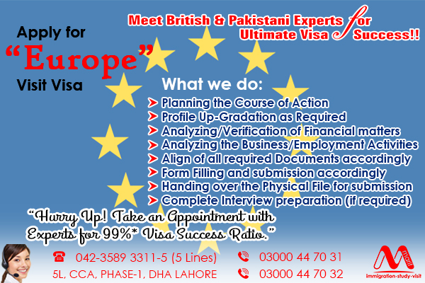 holland visit visa, eu visit visa, schngen visit visa, best consultants in dha lahore, british consultants in dha lahore, apply holland visa through marif law chambers, eu visa file, eu visa file preparation,