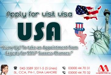 Apply USA Visit Visa Through  Us..