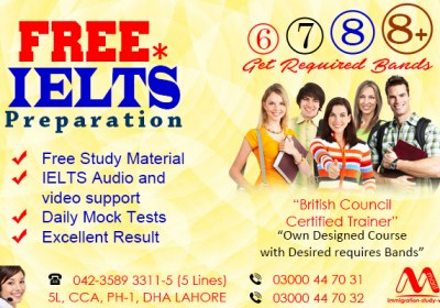 Free IELTS Classes in Dha Lahore Pakistan.
