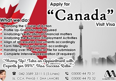 Apply Canada Visit visa Through Us..