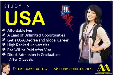 Study in USA in highly ranked universities