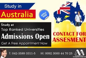 Study in Australia in top universities