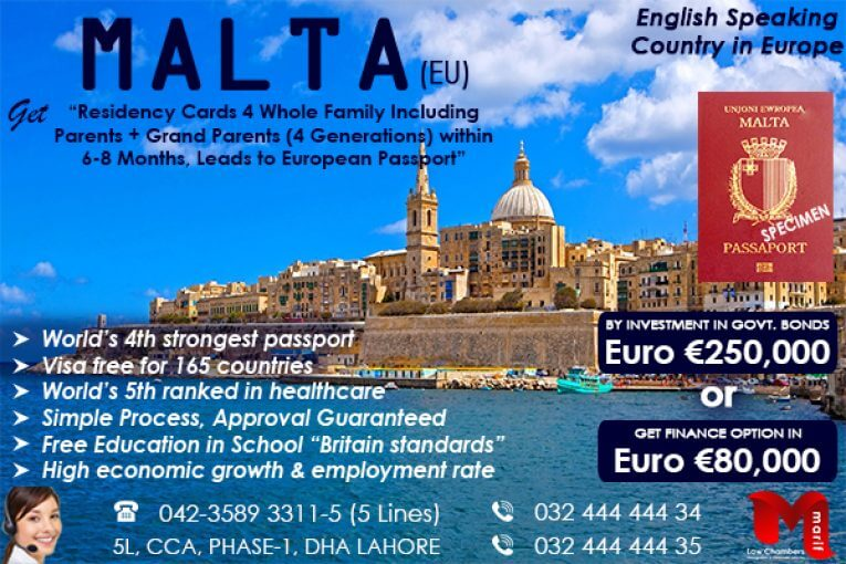 Malta Europe Residency and Citizenship