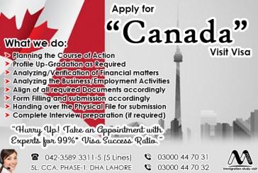 Apply Canada Visit Visa Through Us.