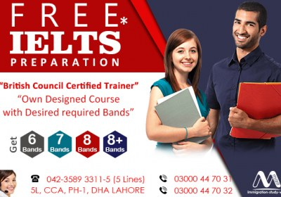 Get Free IELTS Preparation Under Supervision British Council Certified Trainer