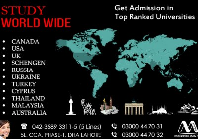 Apply Worldwide Study Visa From Lahore Pakistan..