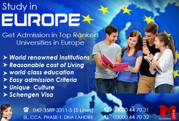 Apply Study Visa of Europe in Top Ranked Universities of Europe Countries.
