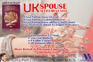 Apply UK Spouse Visa From Marif International Pvt Ltd Lahore Pakistan.