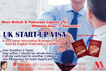 Apply UK Start-up Immigration Visa Through Our British & Pakistani Experts.