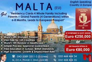 Apply Malta Residency through our Expert..