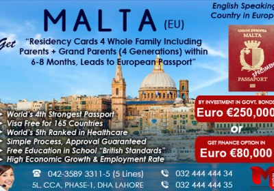 Apply Malta Residency through our Expert..