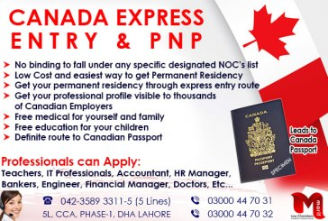 Apply Canada Express Entry & PNP Program..