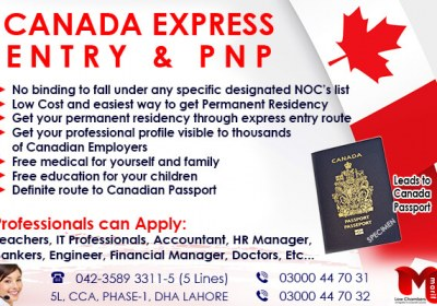 Apply Canada Express Entry & PNP…