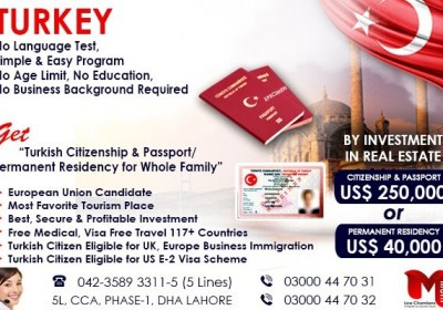 Get Turkish Passport through our British & Pakistani Expert…
