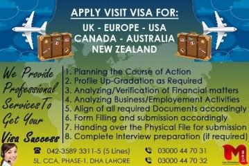 Best Visit Visa Experts In DHA Phase 1 Lahore