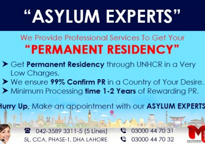 Apply For Asylum, Leads  to PR in USA, Canada, UK, Europe….