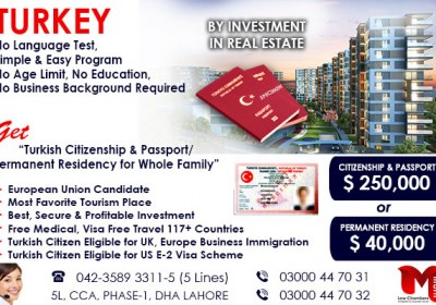 Get Turkish Citizenship by Investment Program…