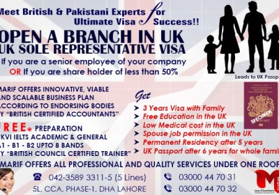 Apply UK Sole Representative Visa through our British Expert..