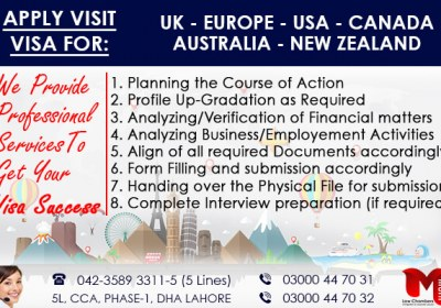 Apply Worldwide Visit Visa through our Expert..