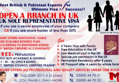Apply UK Sole Representative Visa..