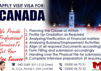 Apply Canada Visit Visa through our Expert..